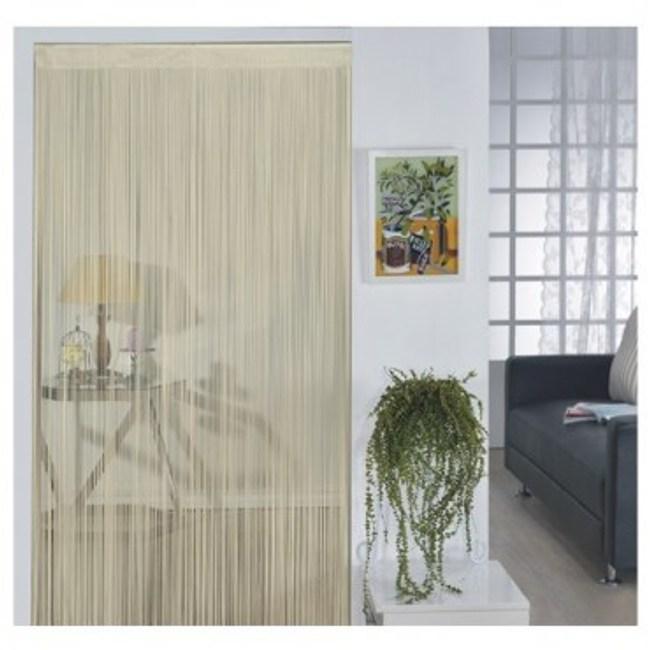 金格拉斯單色細線簾90x180cm米色
