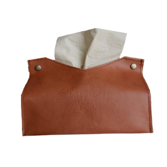 【三房兩廳】北歐皮革優質面紙盒/紙巾盒/衛生紙/置物收納(棕色)