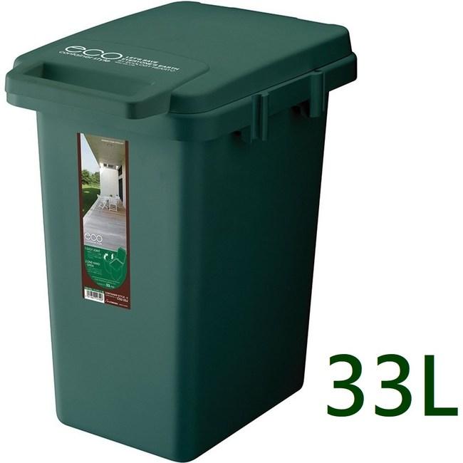 【日本RISU】連結式環保垃圾桶森林系33L-深綠色