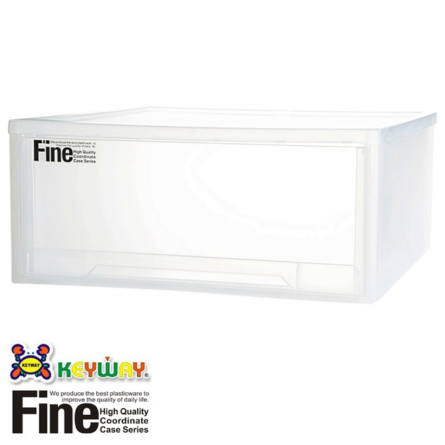 FINE 抽屜整理箱 43L LF-0085 51.8x53.3x24cm