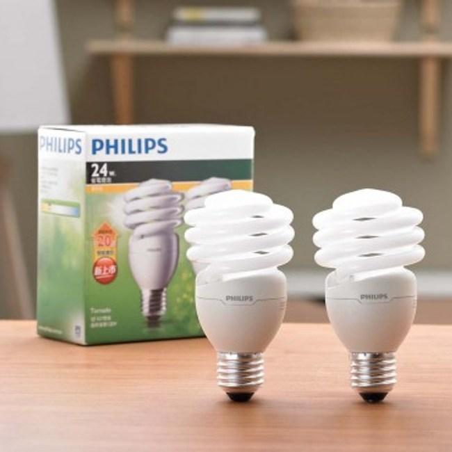 飛利浦新一代T2省電燈泡24W 黃光 4入