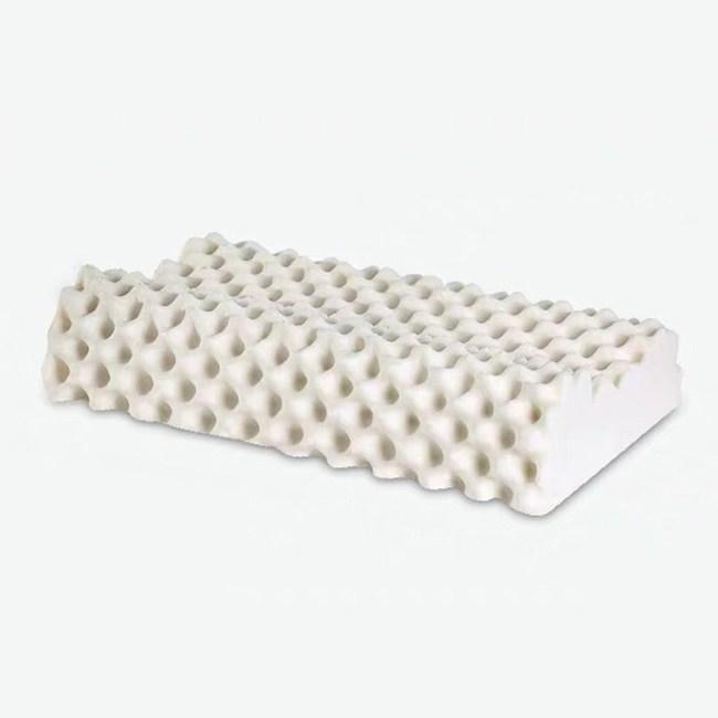 【FOCA】買一送一 深睡眠-加大款100%天然護頸乳膠枕-兩款任選按摩型X2