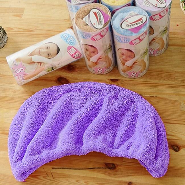 【米夢家居】水乾乾SUMEASY開纖吸水紗-快乾護髮浴帽(紫)二入