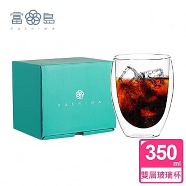 【FUSHIMA 富島】雙層耐熱玻璃杯經典禮盒350ML