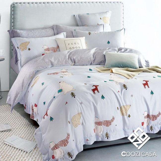 【COOZICASA商務熊】單人四件式吸濕排汗天絲兩用被床包組