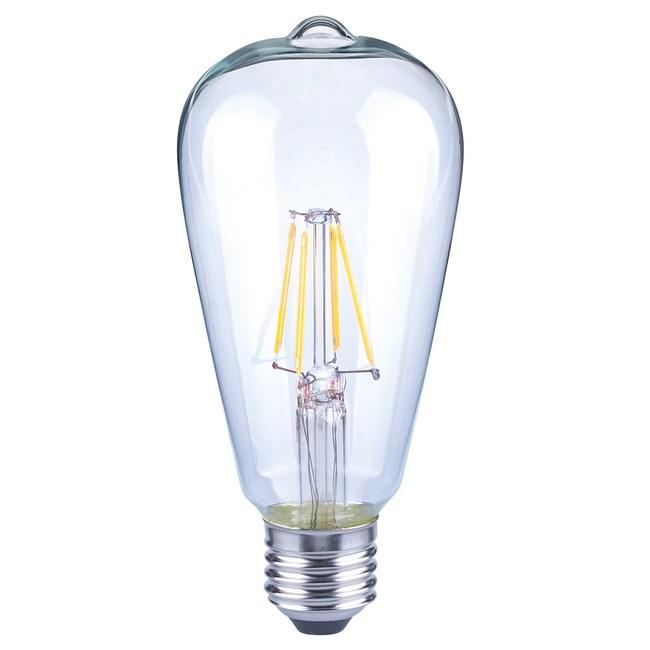 特力屋 仿古LED燈絲燈泡 6.5W 透明玻璃 全電壓