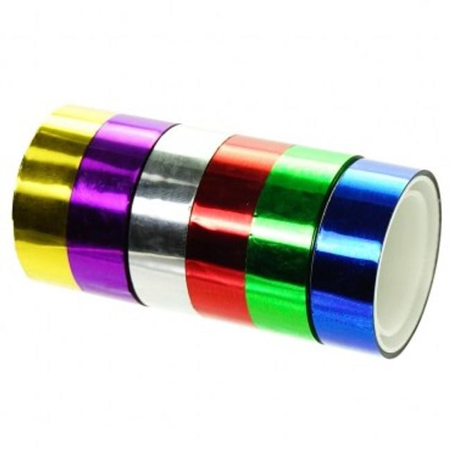 小彩色膠帶12mm*3Y6色/卡