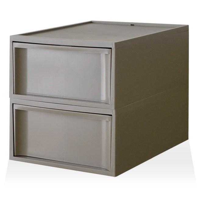 【RISU】北歐風堆疊抽屜櫃組(加大版) M -棕色