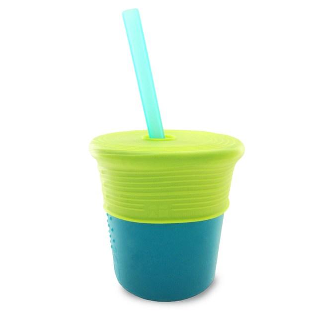 美國silikids果凍餐具 – 矽膠吸管杯組