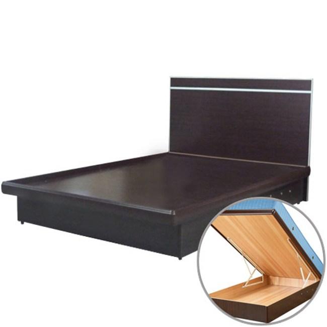 Homelike 麗緻3.5尺掀床組-單人掀床(四色可選)胡桃木紋