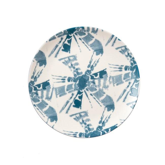 渲染藍韻平盤16cm 米字格