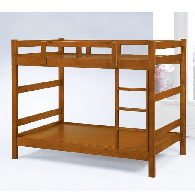 【MUNA 家居】凱斯3.5尺淺胡桃色雙層床