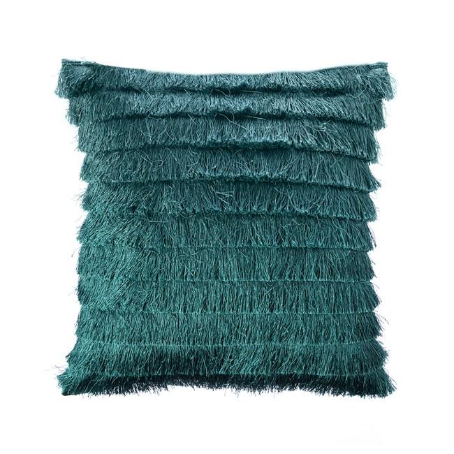 HOLA 蘇菲流蘇抱枕45x45cm深綠