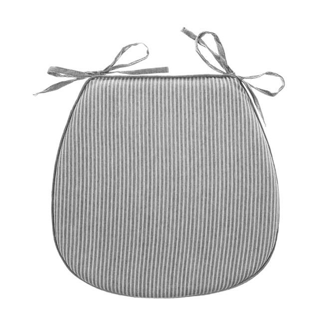 馬蹄型記憶餐椅墊-條紋灰