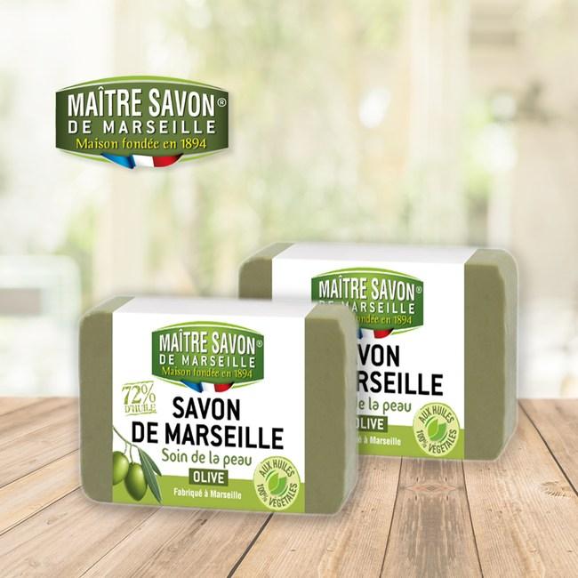 法國玫翠思馬賽植物皂(橄欖)200g-2入組