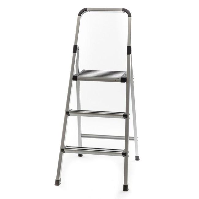 【荷重120公斤】特力屋摩登輕巧三階鋁梯