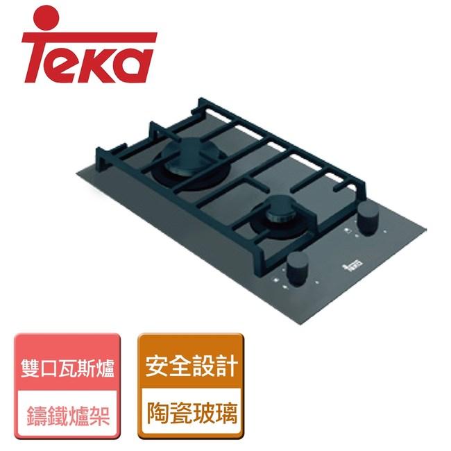 【TEKA】玻璃雙口瓦斯爐-LUX-302G-桶裝