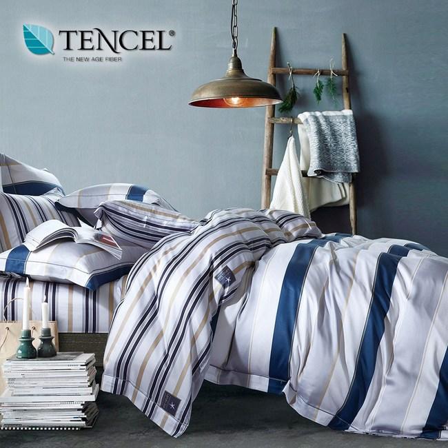 【貝兒居家寢飾生活館】頂級100%天絲床罩鋪棉兩用被七件組(雙人/夏蘭)