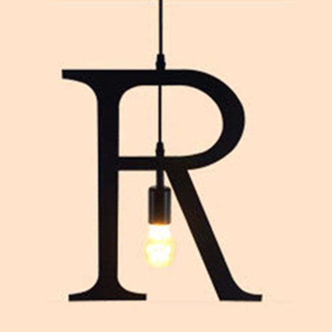 HONEY COMB 復古風英文字母吊燈 R版 TA0077