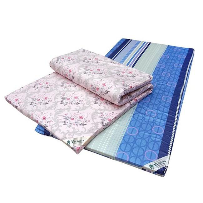 【VICTORIA】單人天然乳膠床墊-4公分(每批花色不同隨機出貨)