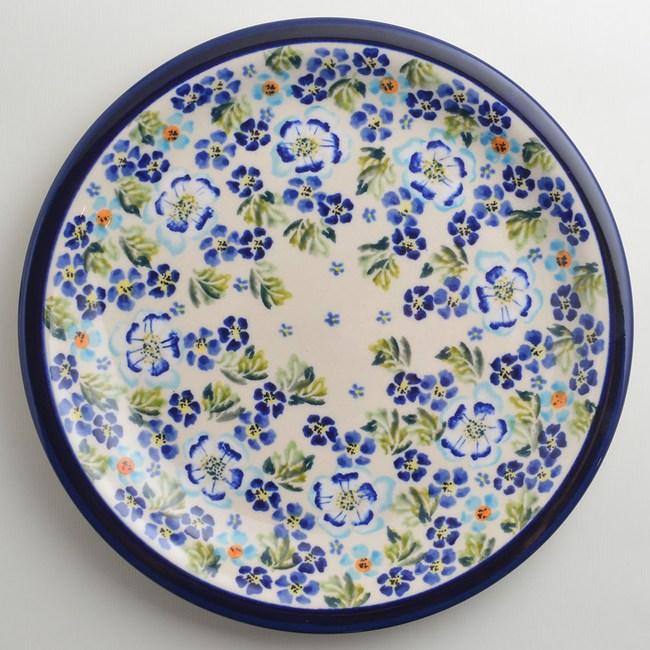 波蘭陶 青藍夏日系列 圓形餐盤 27cm 波蘭手工製