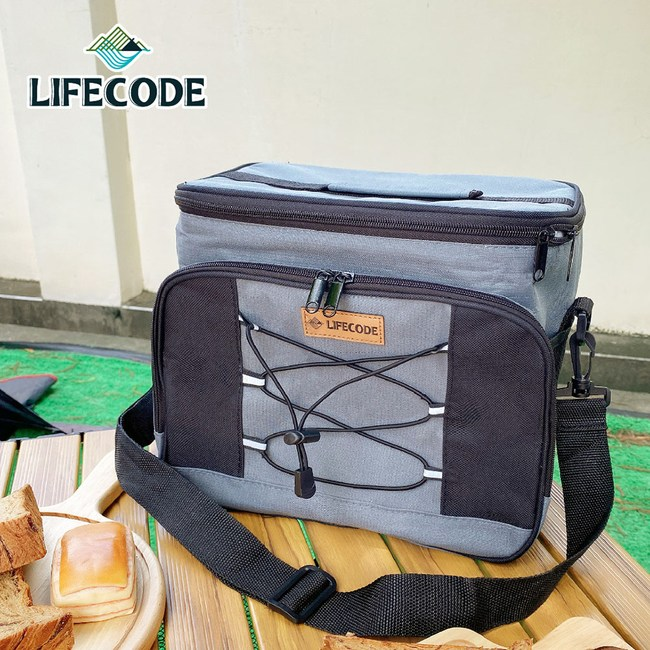 【LIFECODE】歐風保冰袋/保溫袋/保冷袋(15L)-鐵灰色