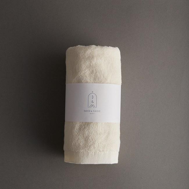 DAVID & MAISIE 100%有機棉柔軟毛巾 舒心黃(無染)