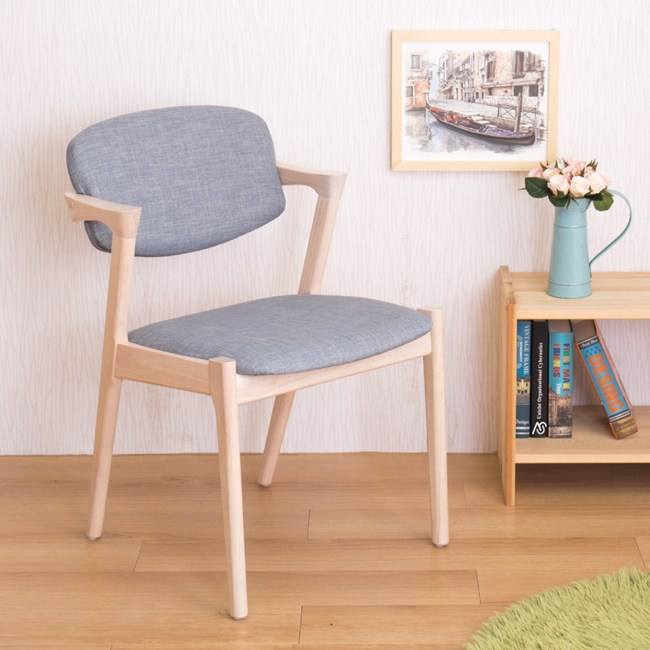 【YFS】莫爾實木餐椅-52x60x78cm(四入組)