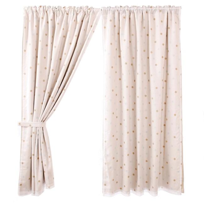 點點防螨抗菌印花雙層遮光窗簾 0.2x200X165cm
