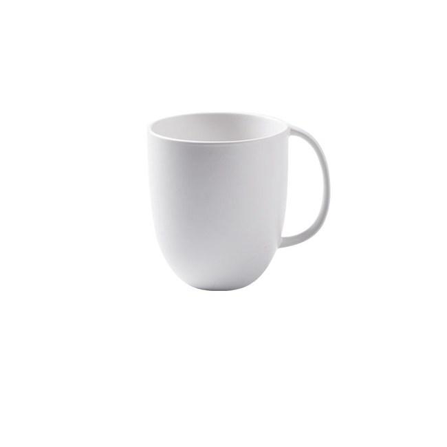 創意純色簡約咖啡杯馬克杯300ml白