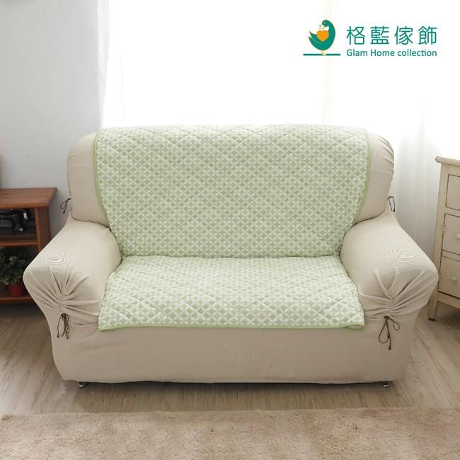 【格藍傢飾】北歐風幾何沙發墊1人-青草綠