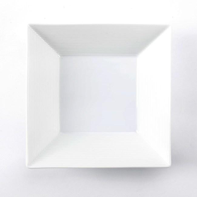日本千段方碗16cm白