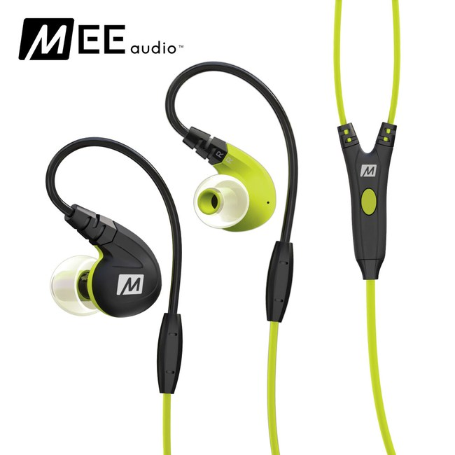 MEE audio M7P 運動耳道式耳機綠色