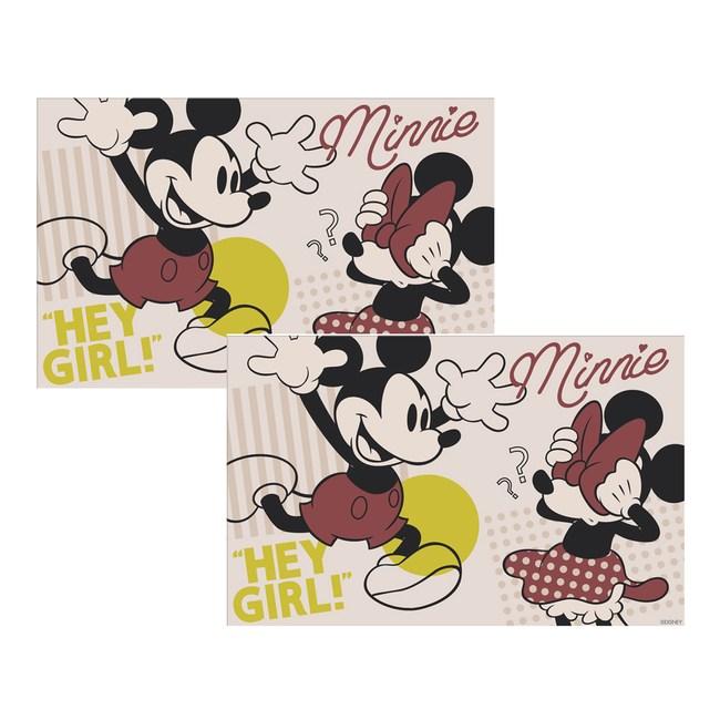 (組)迪士尼系列米奇餐墊-米 2入組