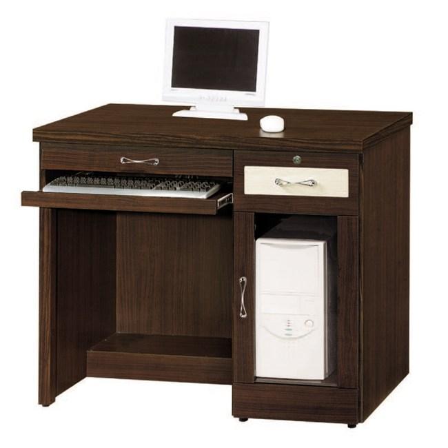 【MUNA 家居】777型3.2尺胡桃色電腦桌