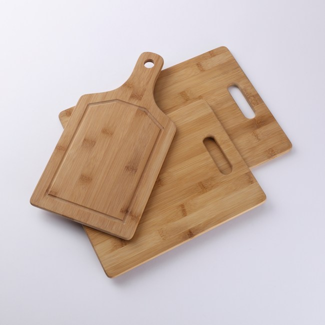 HOLA home 生熟食竹砧板三入組