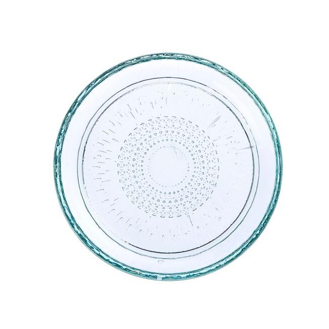 丹麥Bitz 玻璃餐盤18cm 綠