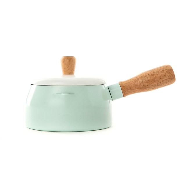 HOLA 單柄迷你鐵鍋14cm-湖水綠