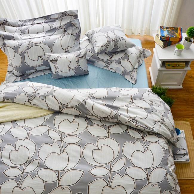 【Cozy inn】花趣-200織精梳棉被套床包組(單人)
