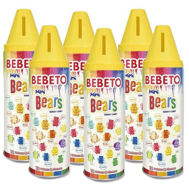 Bebeto蠟筆彩虹熊軟糖200g(6入)