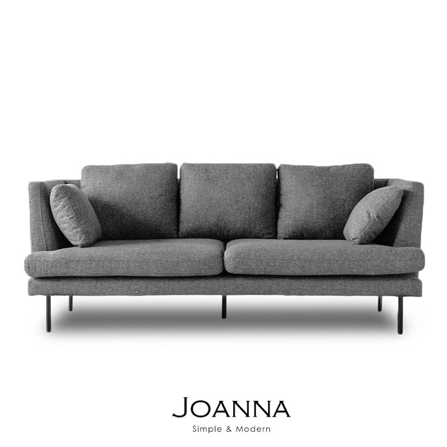 【obis】Joanna北歐風三人布沙發淺灰