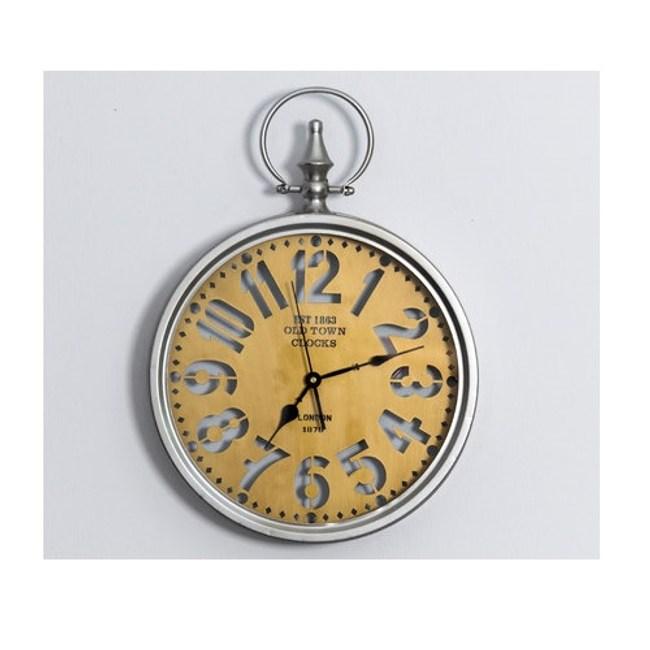 美式復古發光靜音掛鐘/鐘錶-D