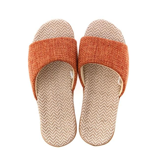 HOLA 居家平面輕便拖鞋-橘M