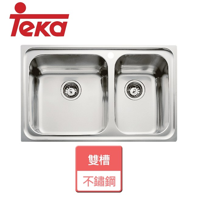 【TEKA】不銹鋼雙槽-CLASSIC 2B-左大