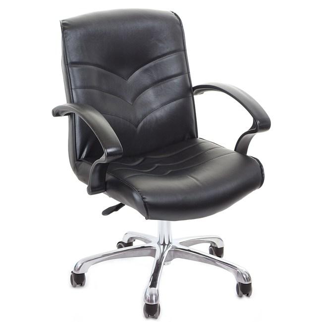GXG 短背皮面 電腦椅 (鋁合金腳) TW-1007 LU
