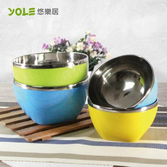 【YOLE悠樂居】家庭簡約不鏽鋼飯碗(4入) #1129002