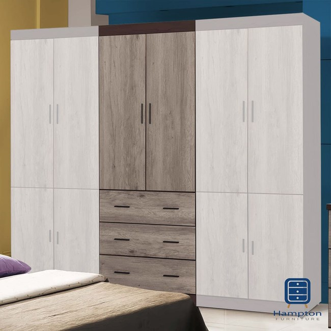 【Hampton 漢汀堡】泰麗莎系列2.7尺下三抽衣櫥