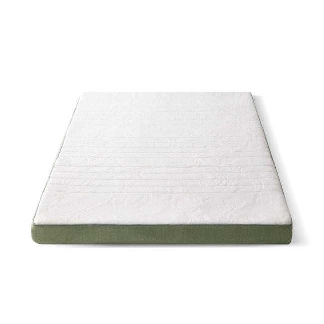 源氏木語舒眠防螨乳膠山棕釋壓薄床墊4尺/120x190x10cm J46綠