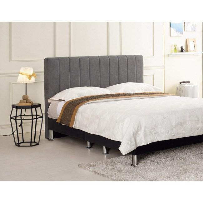 多琳5尺灰布床頭片