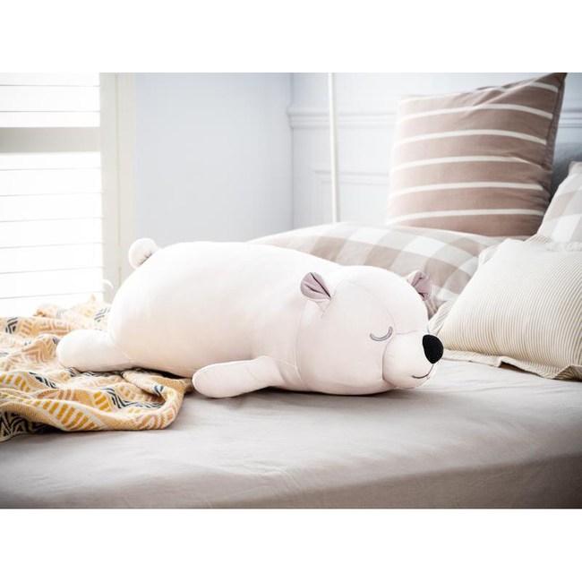 涼感小白熊抱枕70cm